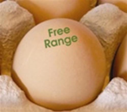 Egg Stamp - Text - Free Range