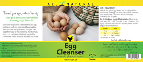 egg cleanser instructions and information