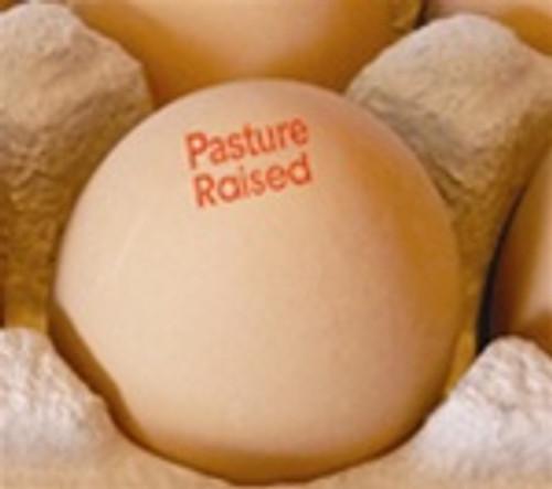 Egg Stamp - Text - Pasture Raised