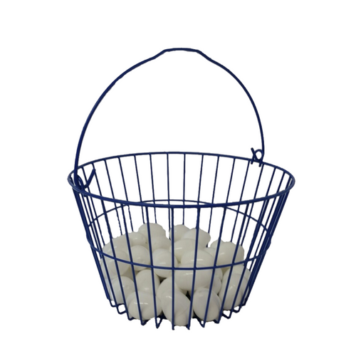 Plastic Coated Wire Egg Basket filled with eggs