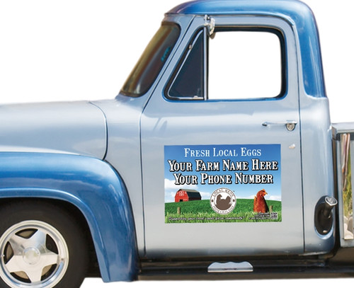 Announce your farm fresh eggs for sale with these eye-catching car signs!