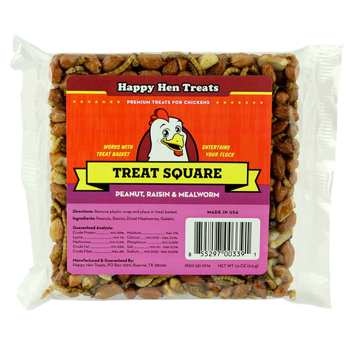 Treat Square Combo Pack with 4 Treats & Basket pink front view
