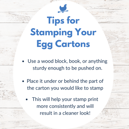 tips for stamping your egg cartons