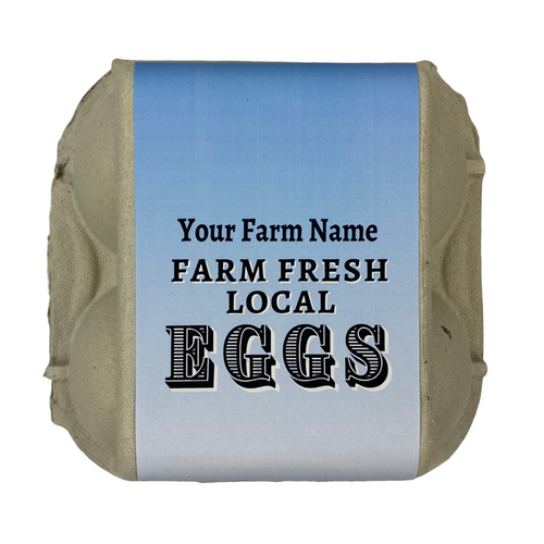 4-Egg iMagic Custom Carton Label - Barn & Silo