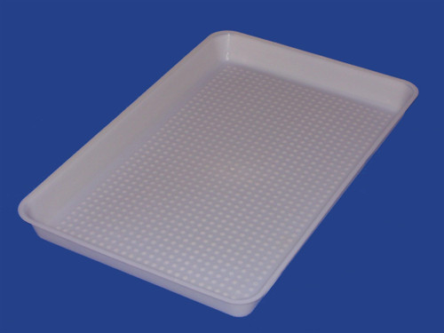 White Plastic Chick Feeder Lid with Partitions