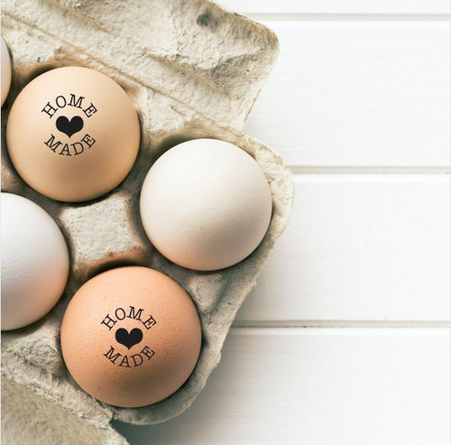 home made egg stamp from the egg carton store lifestyle image