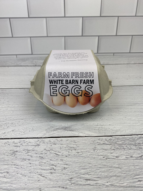 4-Egg iMagic Custom Carton Label - Fresh Eggs