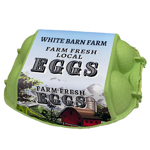 6-Egg iMagic Custom Carton Label - Barn & Silo