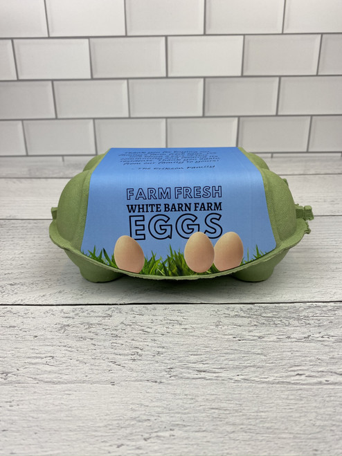 6-Egg iMagic Custom Carton Label - Fresh Eggs in Grass