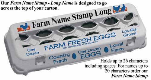 description of custom long farm name stamp