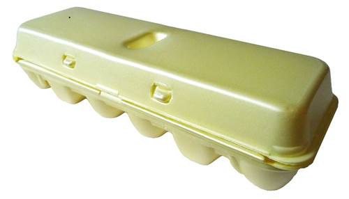 Yellow 12-Egg Blank Styrofoam Carton