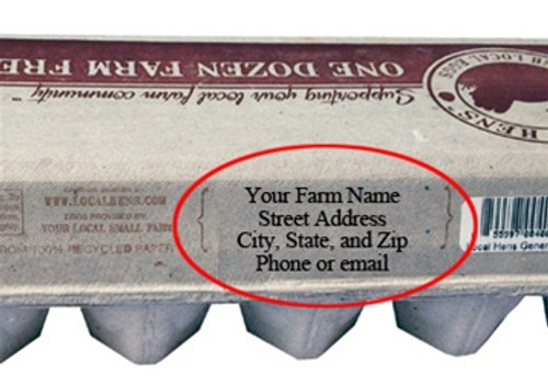 Carton Back Address Stamp - Self Inking
