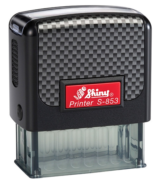 Self inking red and black stamp with Name & Address for Carton Back