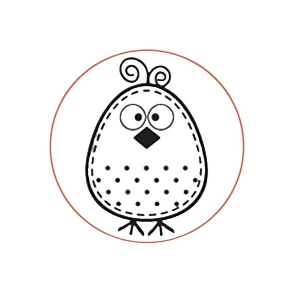 Egg Stamp -  Cute Polka Dot Chick