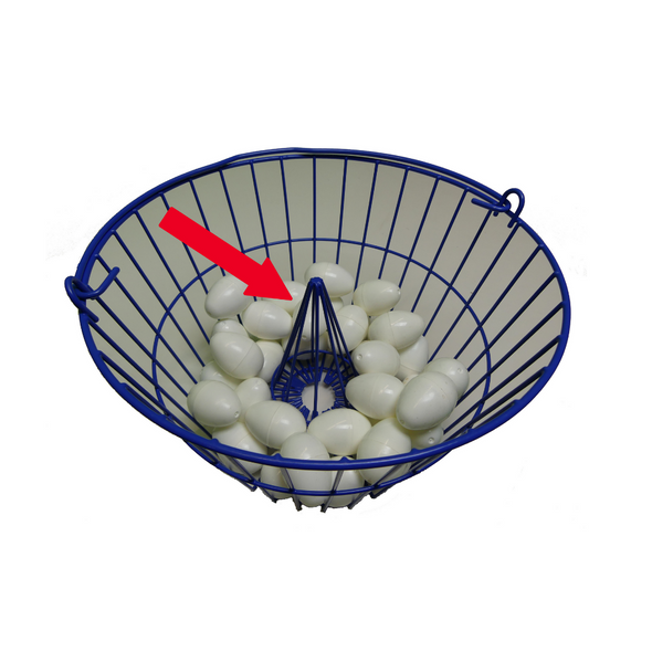 Plastic Coated Wire Egg Basket Cone
