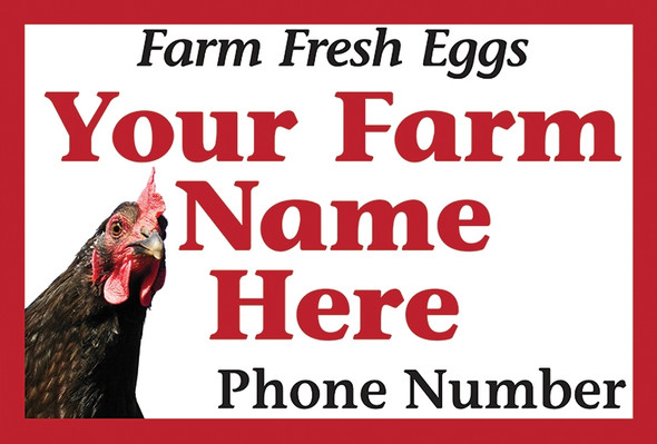 Magnetic Vehicle Sign: Corner Chicken with your farm name here