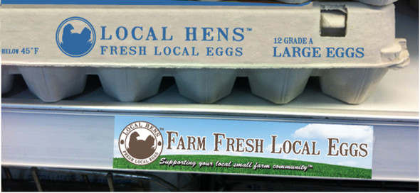 Draw attention to your eggs on market shelves!