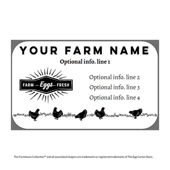 farmhouse collection medium sized customizable egg carton label proof