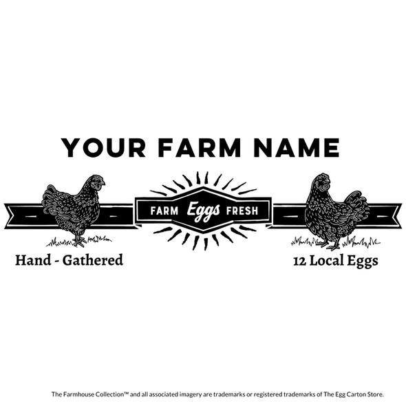customizable egg carton stamp rustic farmhouse style