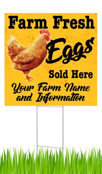 Announce your farm fresh eggs for sale with these eye-catching yard signs!