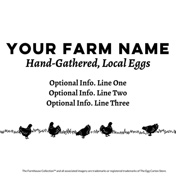 customizable farm name and info egg carton stamp - the farmhouse collection