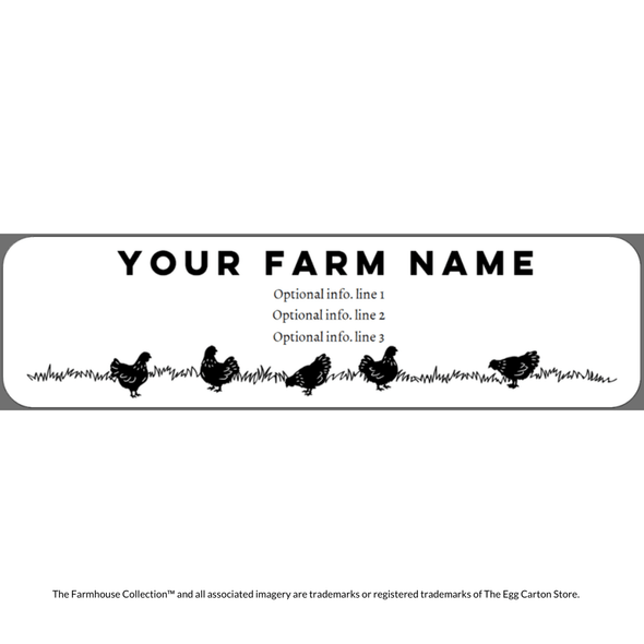 The Farmhouse Collection™: Full-Top Country Grazing Hens egg carton label