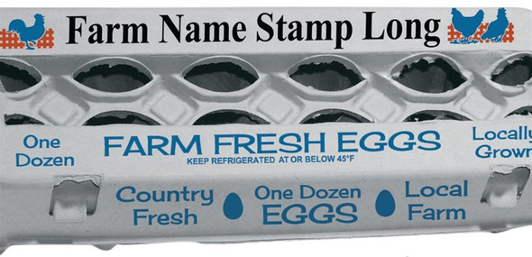 Custom Long farm name Stamp