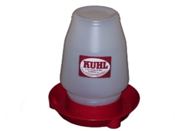1 Gallon Chick Drinking Fountain with red base