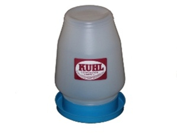 1 Gallon Quail Drinking Fountain Complete with blue base