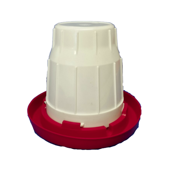 twist and lock backyard chicken waterer that does not need electricity