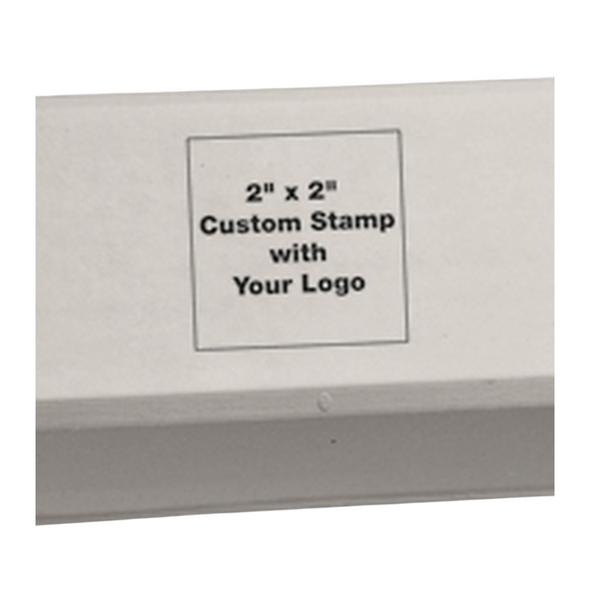 Custom Logo Carton Rubber Stamp close up