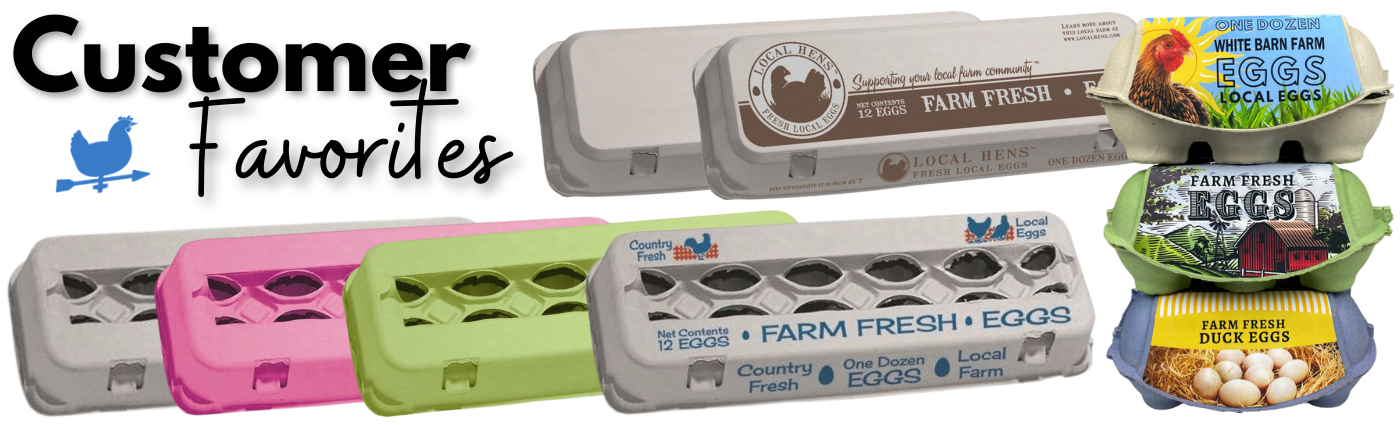 customer favorites the egg carton store banner with colored molded fiber cartons and imagic cartons