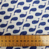 Navy Whale, 100% cotton Double Gauze, Sevenberry Japanese Cotton, from Purple Stitches, Hampshire UK