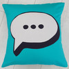 Speech Bubble Cushion Pattern, Purple Stitches, Hampshire UK