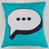 Speech Bubble Cushion Pattern, Purple Stitches, Hampshire UK