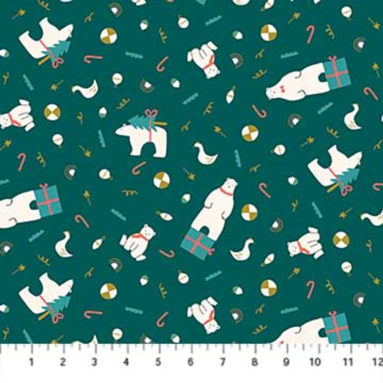 Polar Magic Figo Fabrics 100 Cotton Fabric Purple Stitches