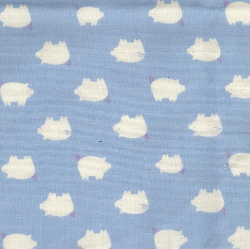 Sevenberry Cotton - Piggy blue