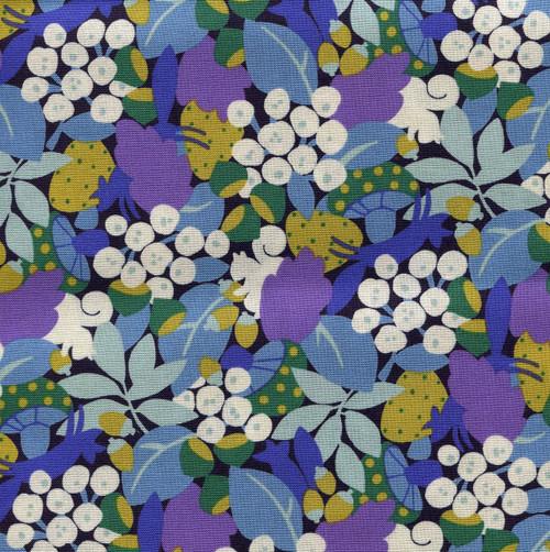 Sevenberry Cotton - Floral blue