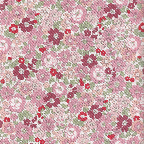 Pink Floral - Cotton Twill - Japanese Fabric - Sevenberry Fabric