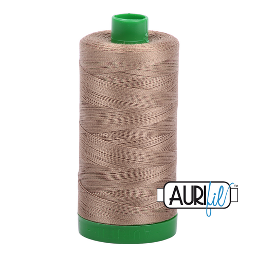 Aurifil Thread 40wt in 2370 SANDSTONE 100% cotton - New