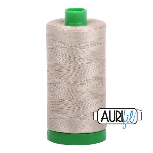 Aurifil Thread 40wt in 2324 STONE 100% cotton - New