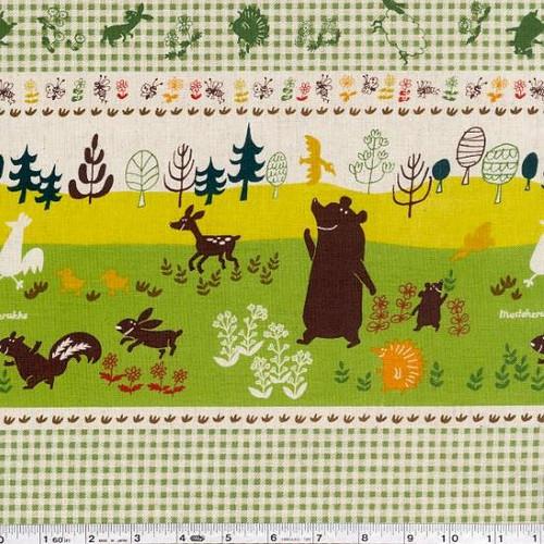 Mustaherukka Border - Nancy Wolff - Kokka fabrics