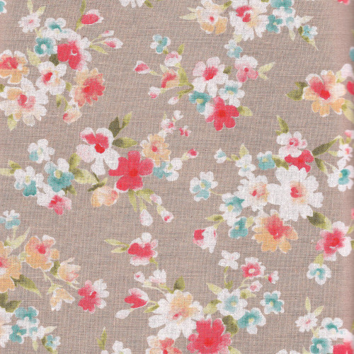 Vintage Floral in Bright - Cotton Linen Mix - Sevenberry Fabrics