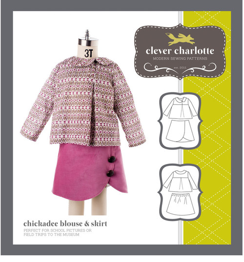 Chickadee Blouse & Skirt (2 - 8 years) - Clever Charlotte