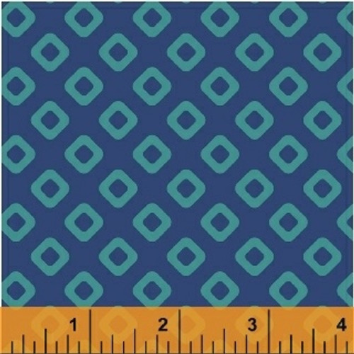 "Square in Blue - Modern 108"" quilt backs - Windham Fabrics, available from Purple Stitches, UK"