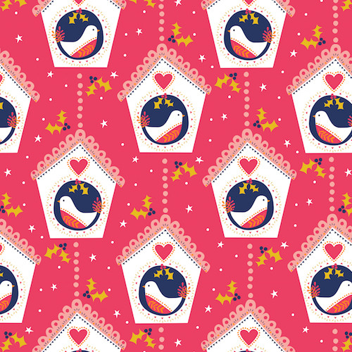 Modern Christmas Fabric, Dashwood Studio, Available from Purple Stitches, Hampshire, UK