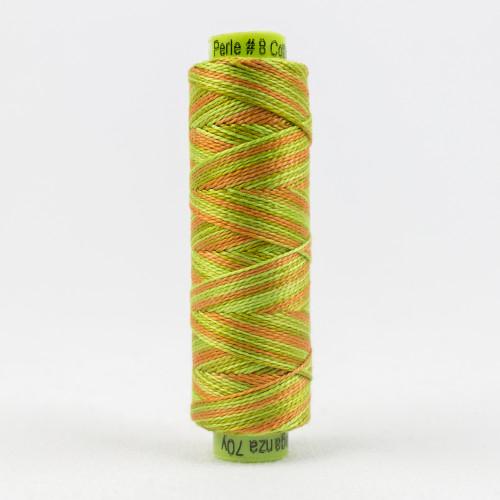 Citrus Zest, Sue Spargo Eleganza perle 8 cotton, Available from Purple Stitches, Hampshire UK