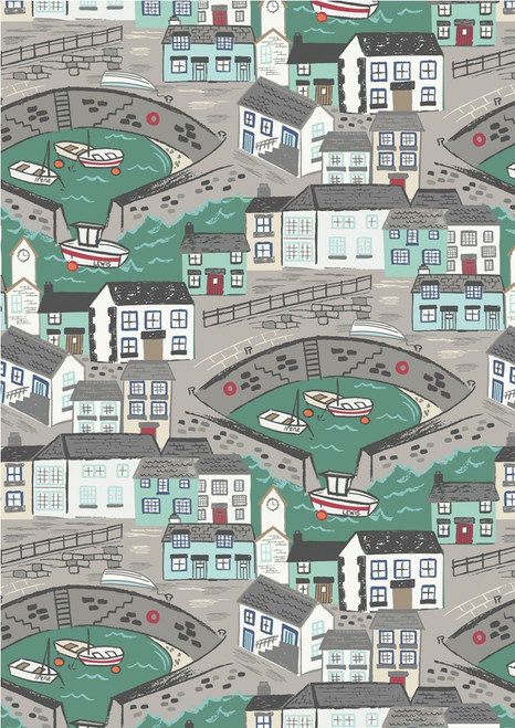 Harbour Side by Lewis and Irene, Seaside Boat, Fishing, available from Purple Stitches, North Hampshire, UK