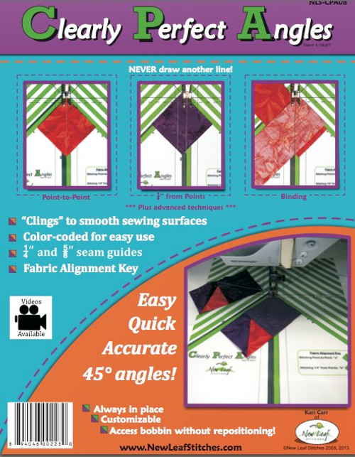 Clearly Perfect Angles, available from Purple Stitches, UK