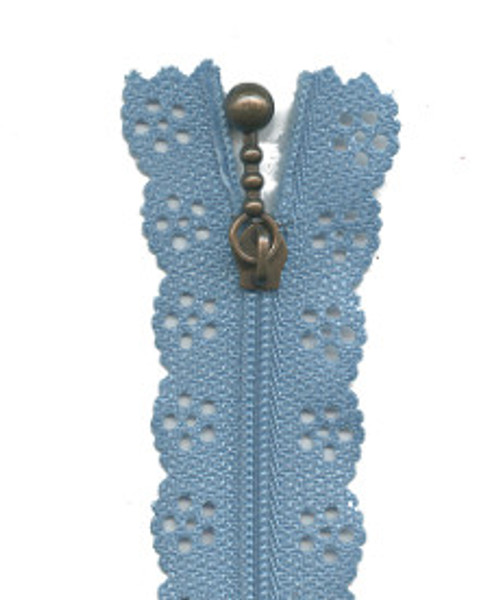Lace Edge Zip, available from Purple Stitches, hampshire, UK